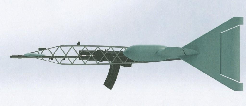 Опытный образец стреляющего беспилотного перехватчика