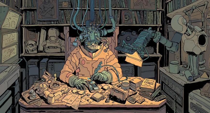 Josan Gonzalez - испанский киберпанк-художник