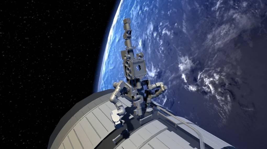 Вариант размещения «Косморобота» на внешней поверхности МКС (ЦНИИ РТК)