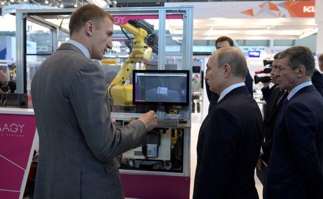 роботы ABAGY, Максим Зверков, Владимир Путин