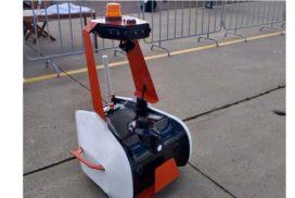 Робот-охранник в аэропорту Жуковский