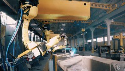 цех роботизированной портальной сварки